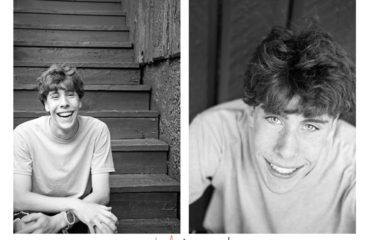 Jeremy, Evergreen High School, senior portraits in downtown Evergreen