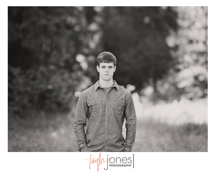 Luke's senior portraits at Pine Valley Ranch Park in Pine, Colorado