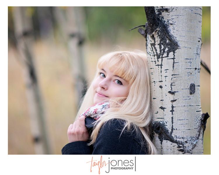 Caroline senior photo shoot at Maxwell Falls, Conifer, Colorado