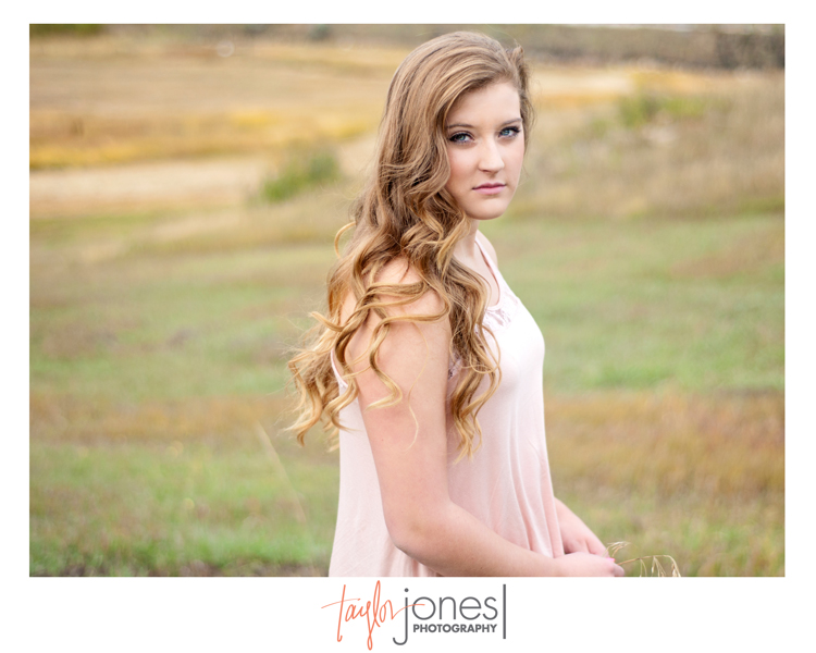 Mallory, Conifer High School, senior portraits at Myer Ranch, Conifer, Colorado