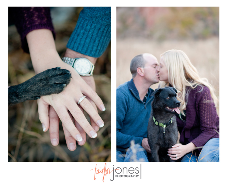 Engagement shoot with puppy paws