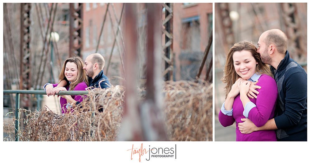 Denver Colorado engagement shoot, engagement photographer, bridge engagement shoot