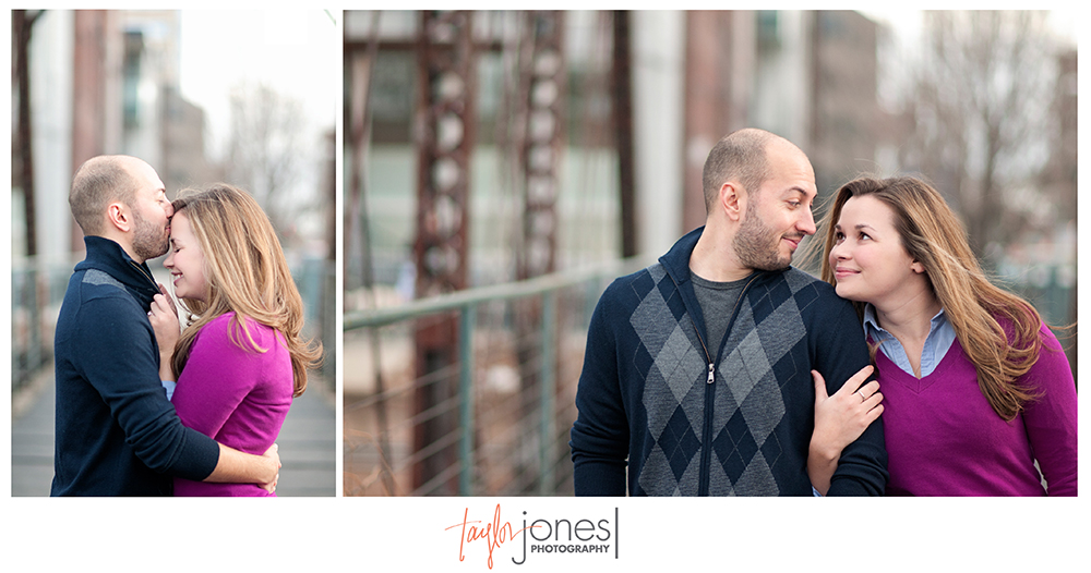 Bridge engagement shoot in Denver
