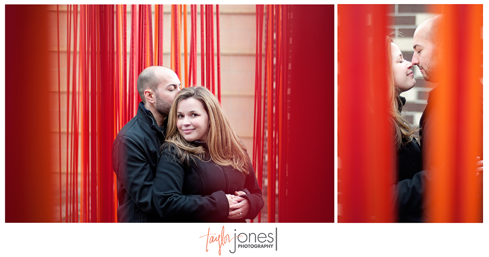 Fun downtown Denver engagement shoot