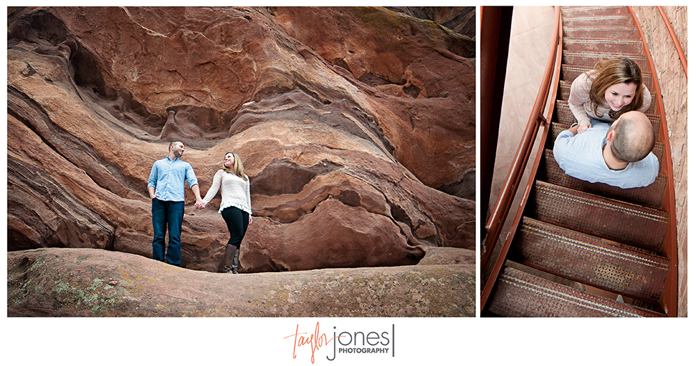 Red Rocks engagement shoot in the rocks