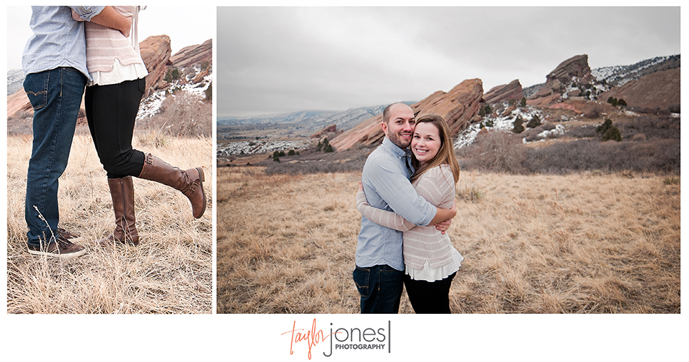 Stormy Red Rocks engagement shoot