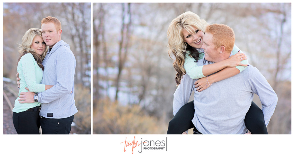 Heritage Square engagement shoot, railroad tracks