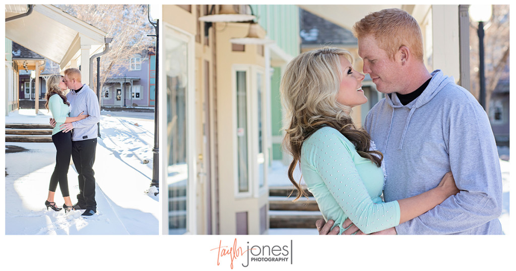 Courtnee and Cody's heritage square engagement photos