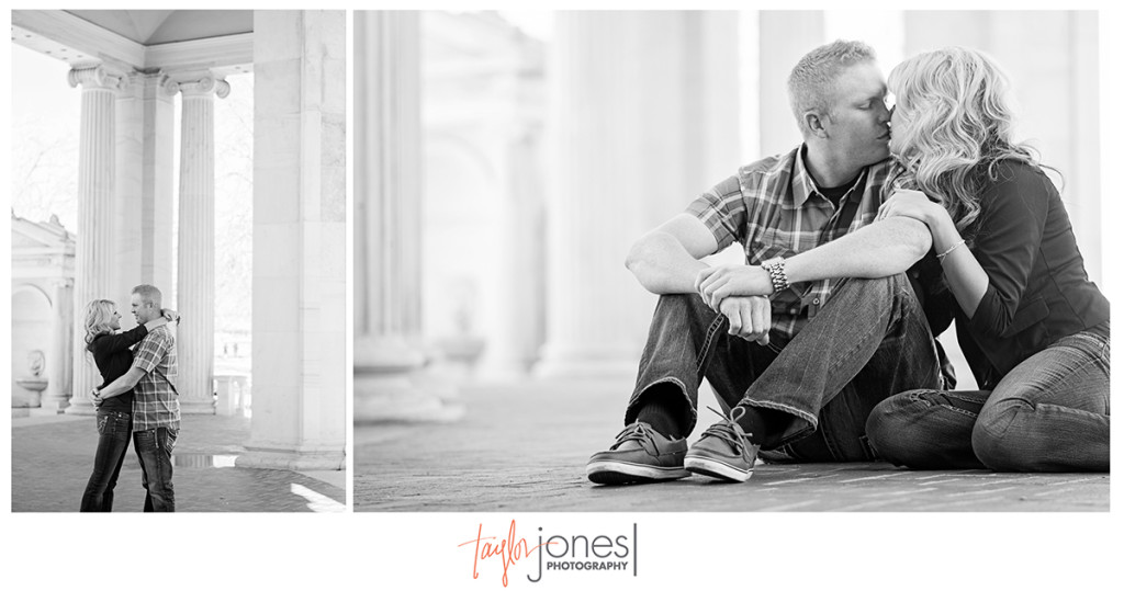 Downtown Denver, Civic Center Park, engagement shoot