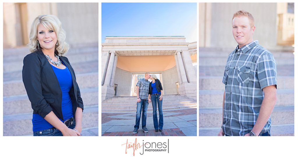 Courtnee and Cody engagement shoot downtown Denver