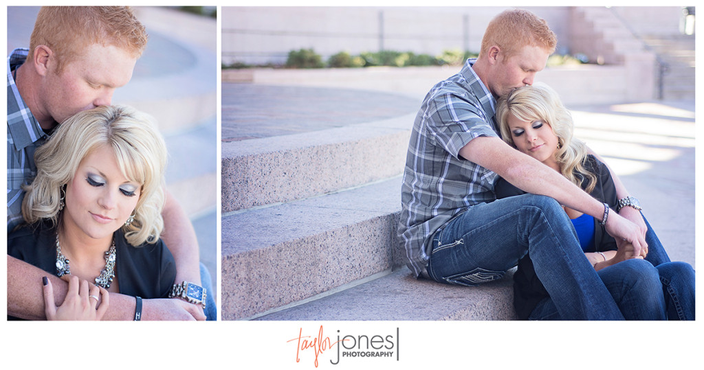Civic center park engagement shoot
