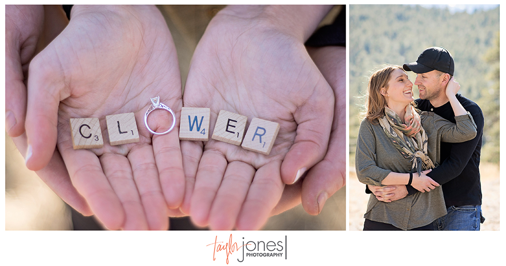 Evergreen wedding photographer, Evergreen photography, engagement shoot Clower Scrabble