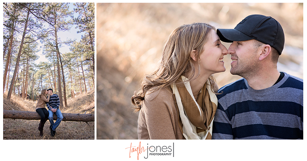 Hiwan Homestead engagement shoot