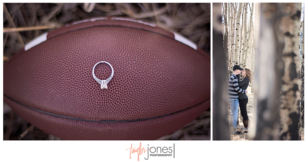 Football engagement ring, Aspen photo