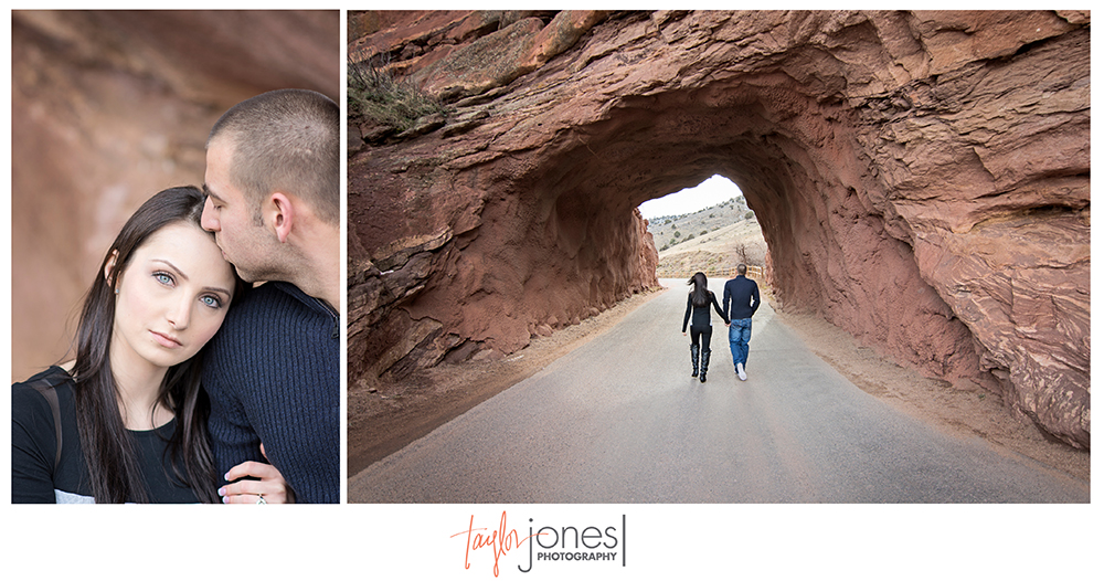 Red Rocks engagement shoot, tunnel at Red Rocks