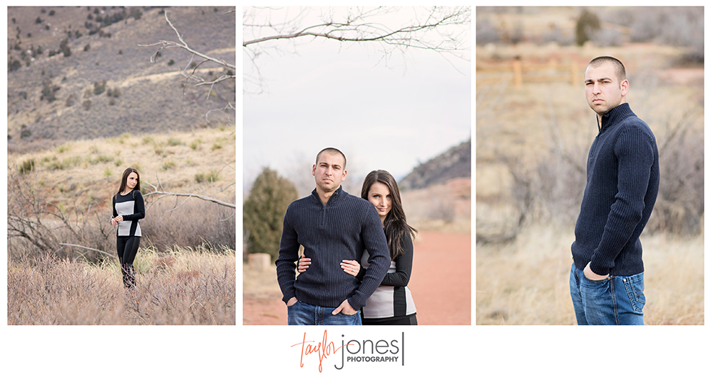 Colorado bride, groom at Red Rocks engagement shoot