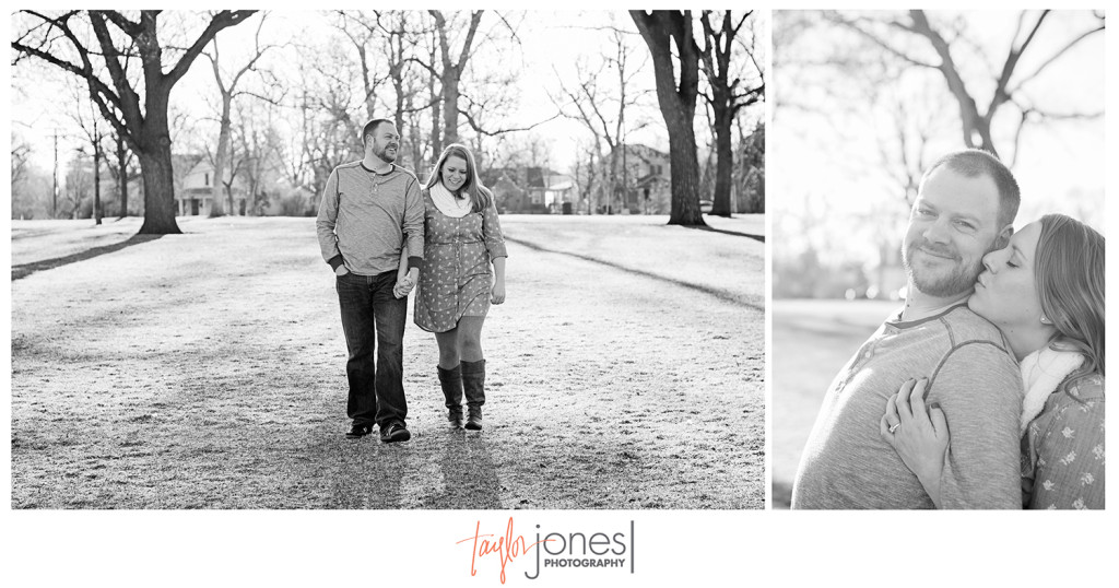 Washington Park engagement shoot at sunrise
