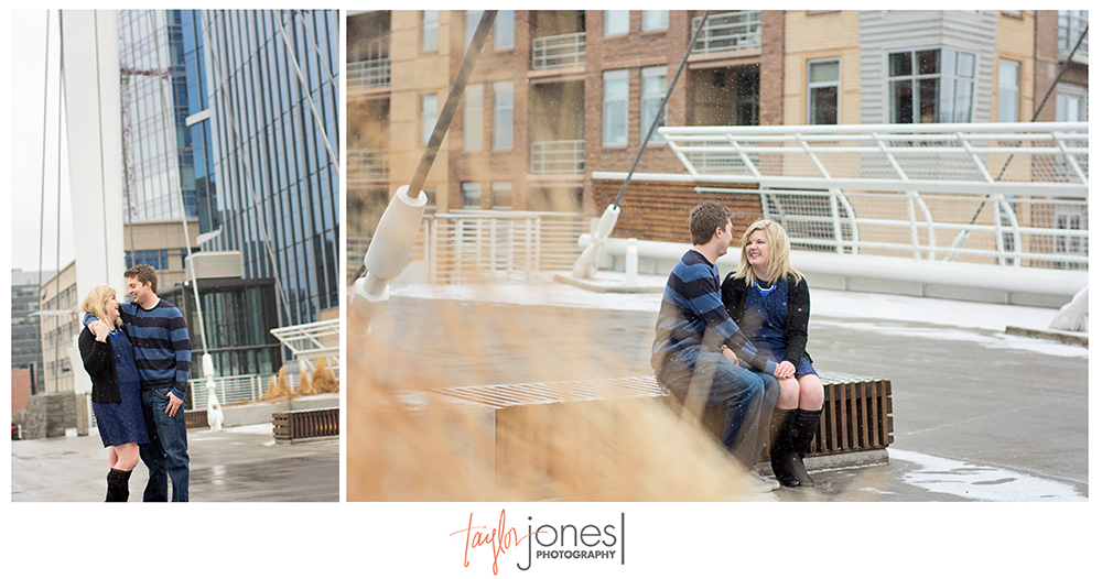 Downtown Denver engagement shot