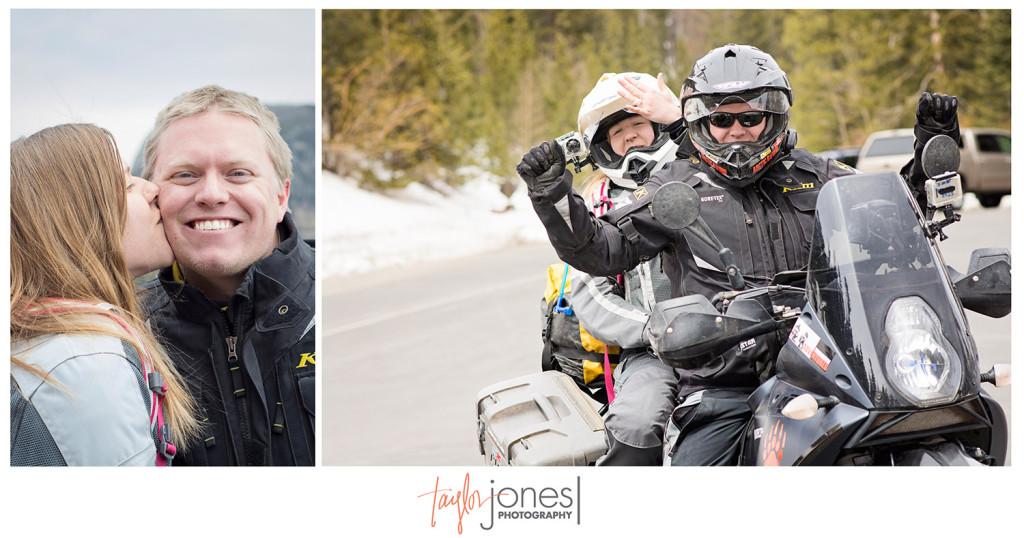 Motorcycle proposal at Rock Mountain National Park