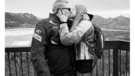 Couple engaged at Rocky mountain national park proposal