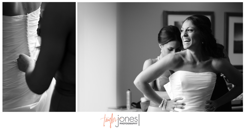 Stunning bride getting ready at Waterfront Place Hotel wedding