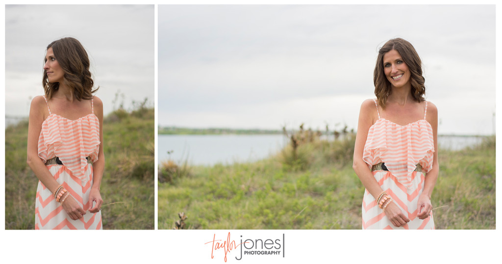 Stunning bride at her engagement shoot near Boulder, Colorado at Standley Lake