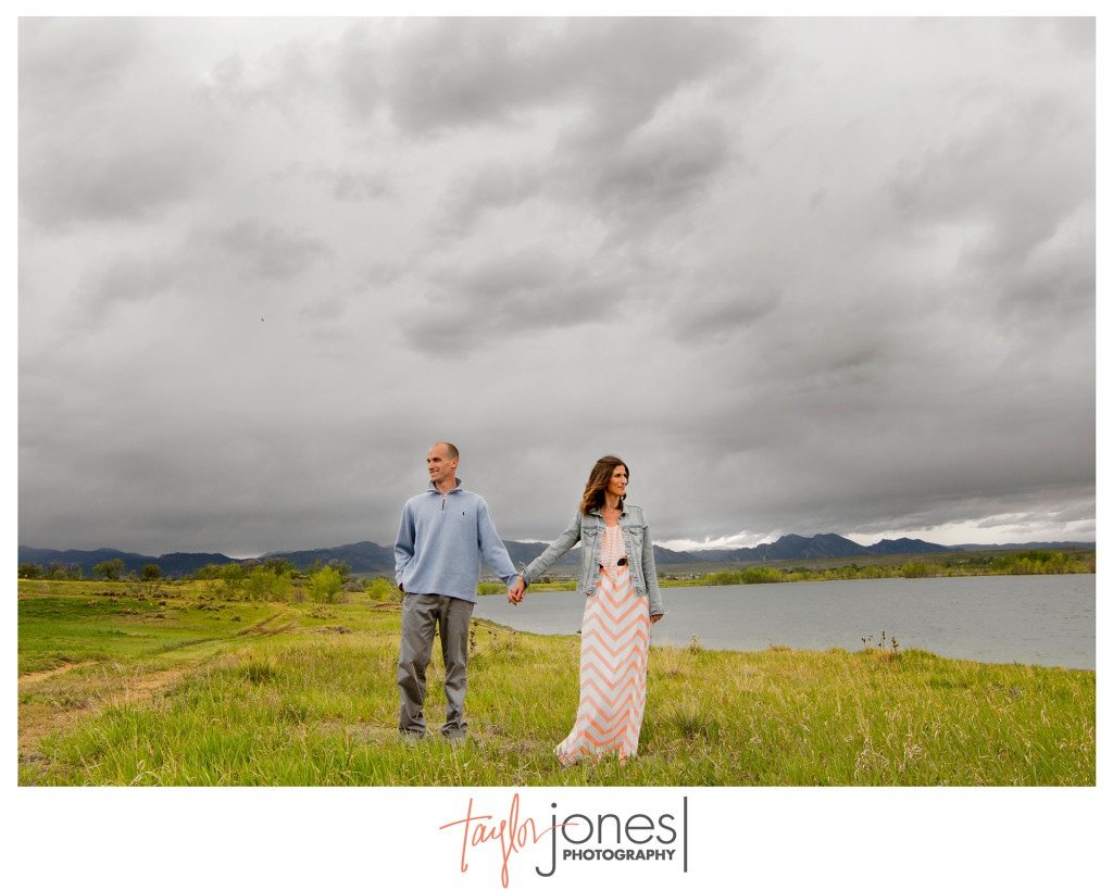 Stormy engagement shoot near Boulder, Colorado