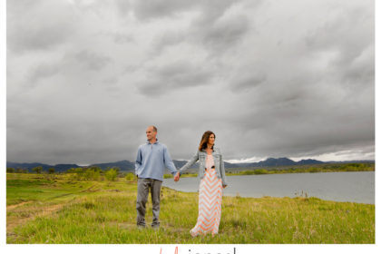 Standley lake engagement shoot during a storm