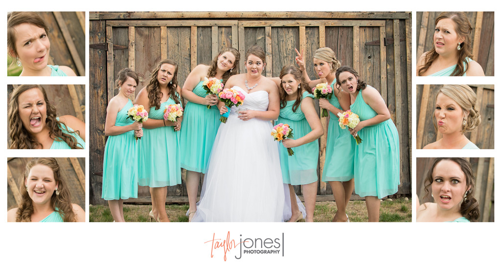 Bridal party at the Shupe Homestead