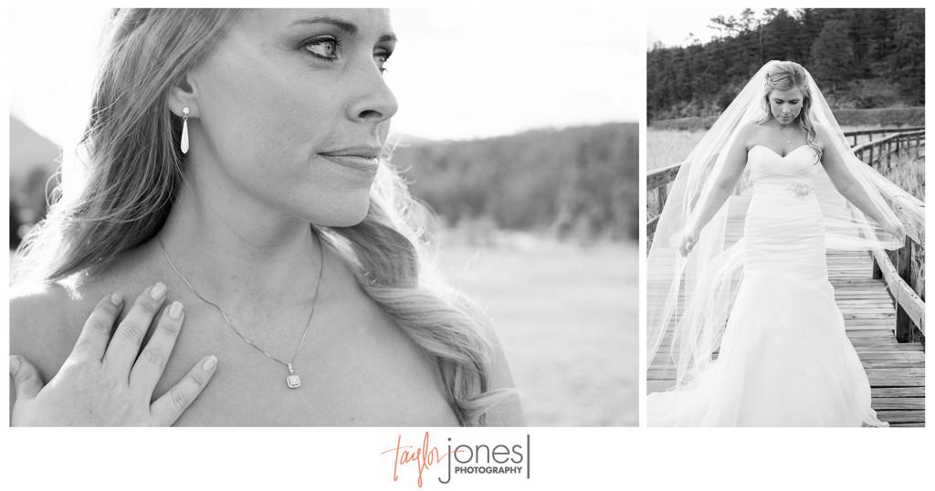 Bridal portraits at Evergreen Lake House