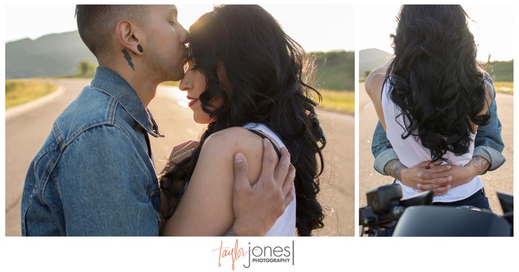 Stylized engagement shoot at sunset