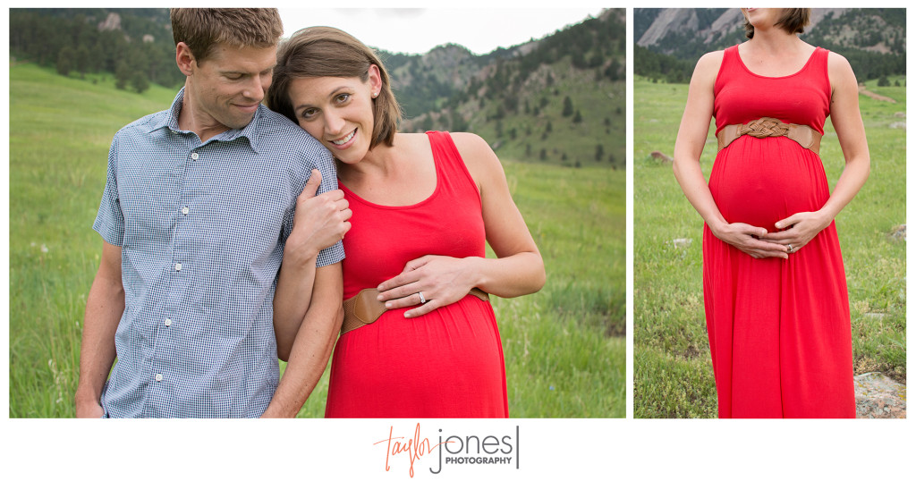Expecting parents at their photo shoot in Boulder Colorado