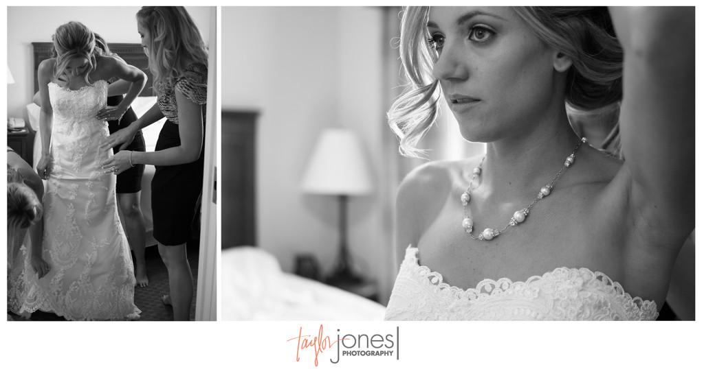 Bride getting ready for her wedding in Denver, Colorado
