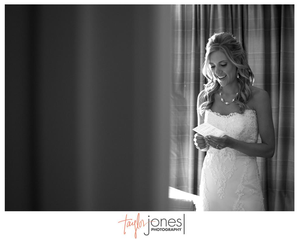Bride, Nicole, reciting her vows