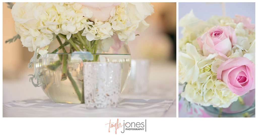 Hydrangeas and roses at Denver wedding