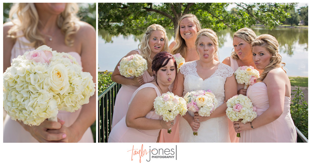 Bridesmaids at Wash Park Boat House wedding