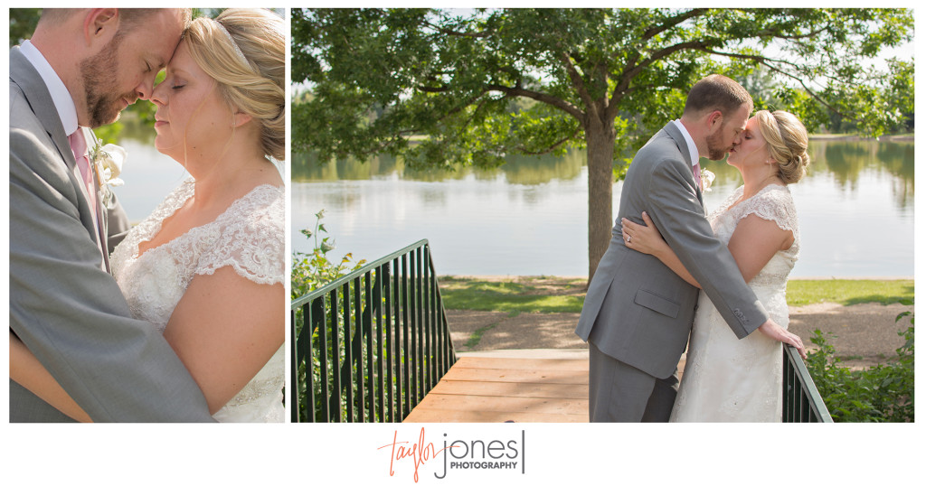Bride and groom, Jessica and Jason, at their Washington Park wedding