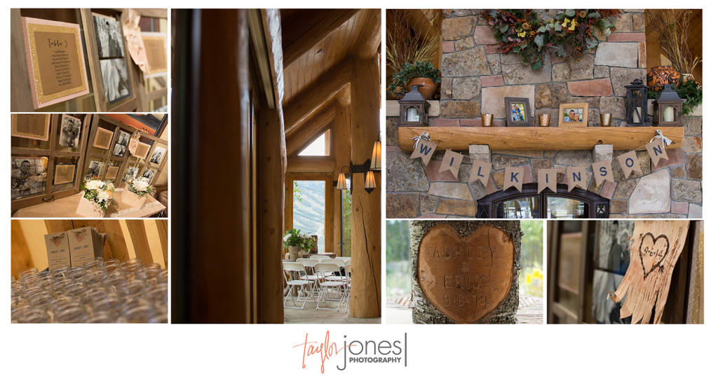 Details from Breckenridge Rubywood mountain home wedding
