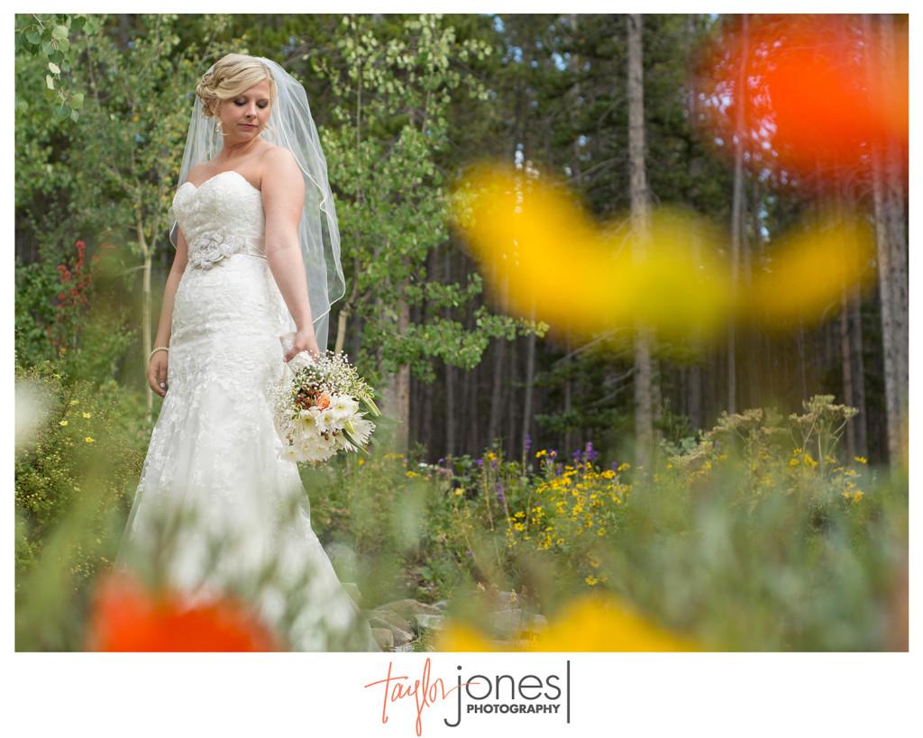 Stunning bride at Breckenridge wedding
