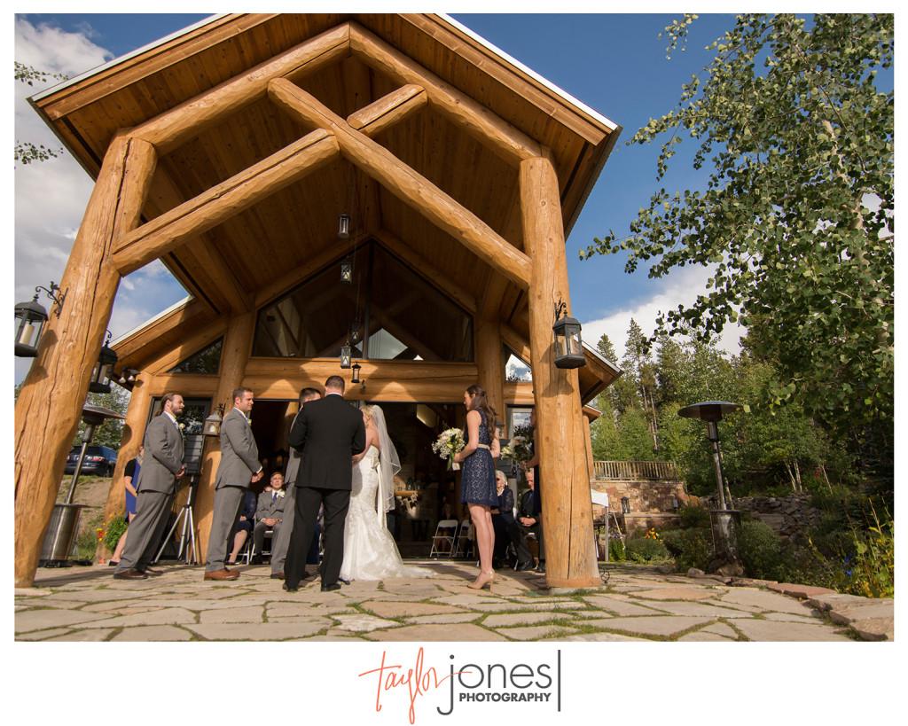 Breckenridge home wedding ceremony