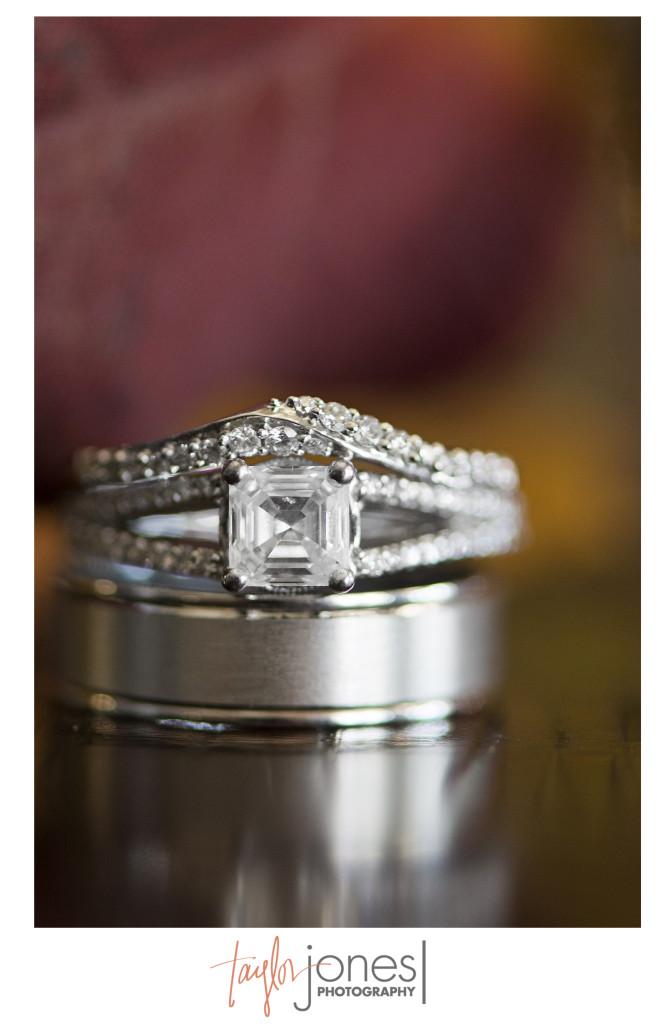 Detail ring photo at fall wedding at Edgewood Inn