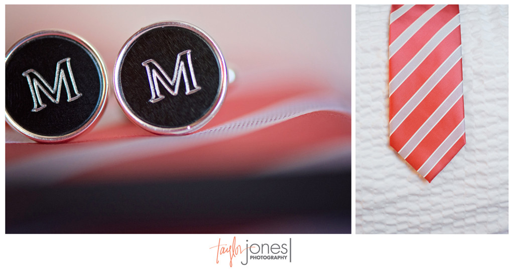 Grooms tie and cuff links