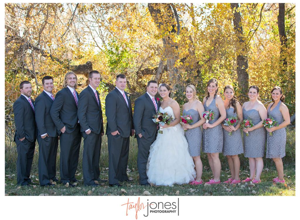 Bridal Party for Colorado fall wedding