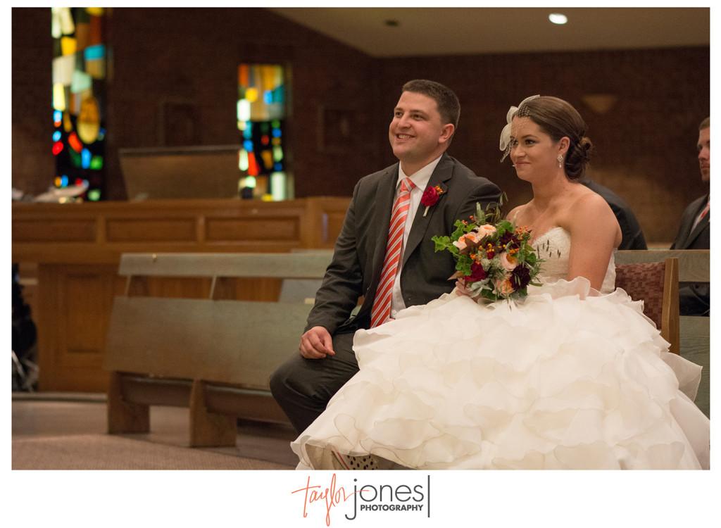 Bride and groom at their wedding in Denver Colorado