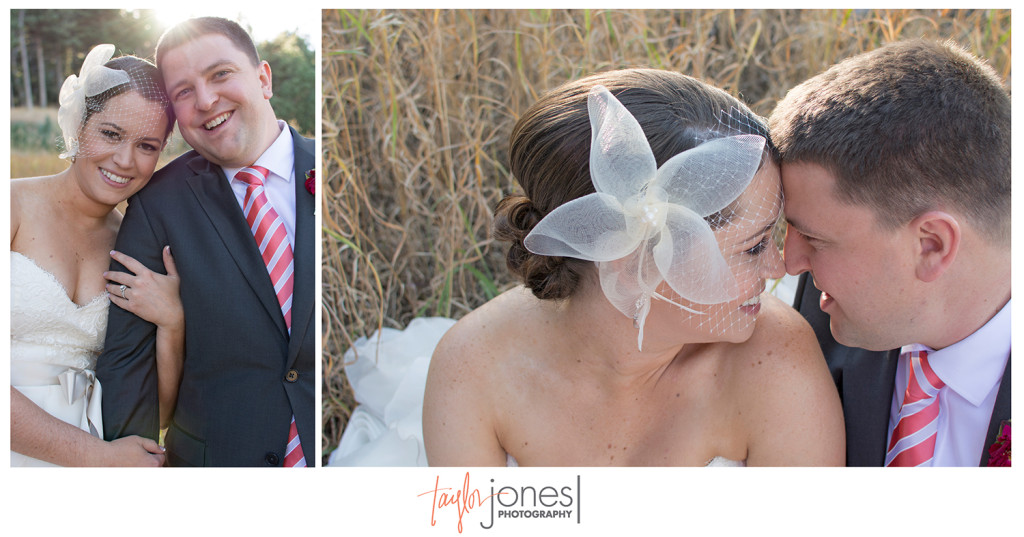 Bride and groom at Pines at Genesee wedding