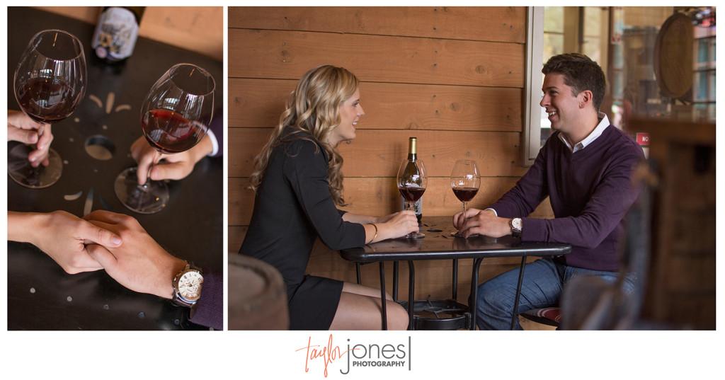 Engagement shoot at Colorado winery