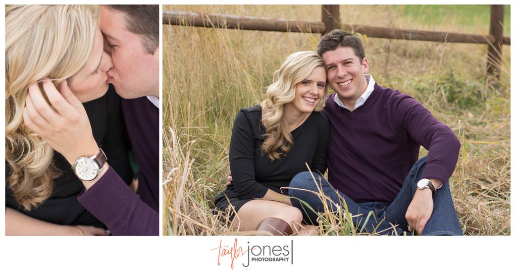 Megan and John engagement shoot at Evergreen Lake House