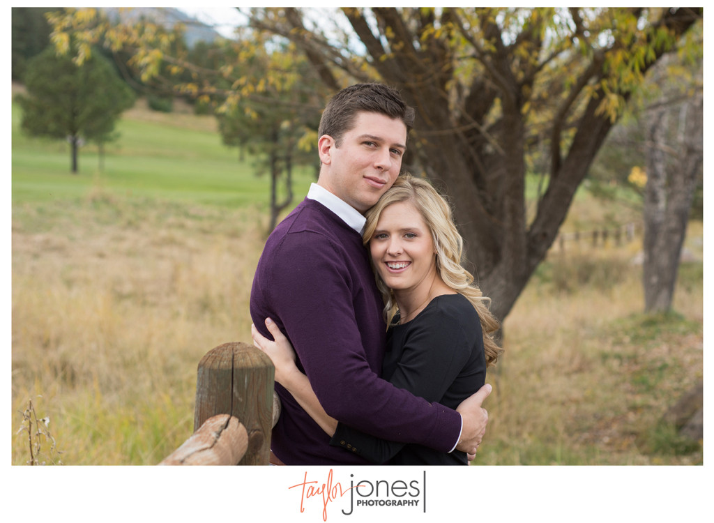 Evergreen colorado engagement shoot in field