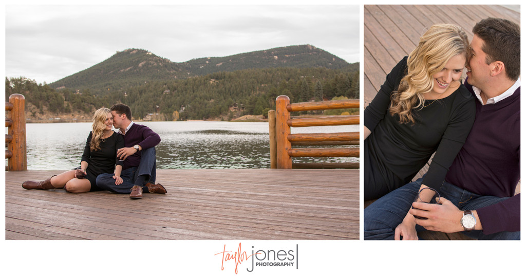 Evergreen Lake engagement shoot