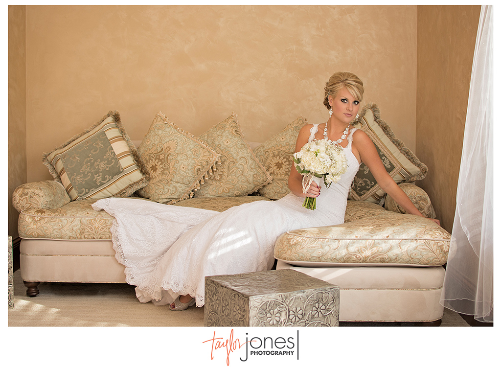 Bride Courtnee Crispe at her wedding at Cielo at Castle Pines